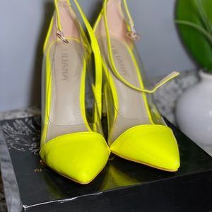 Liliana Yellow Neon Pumps 💕